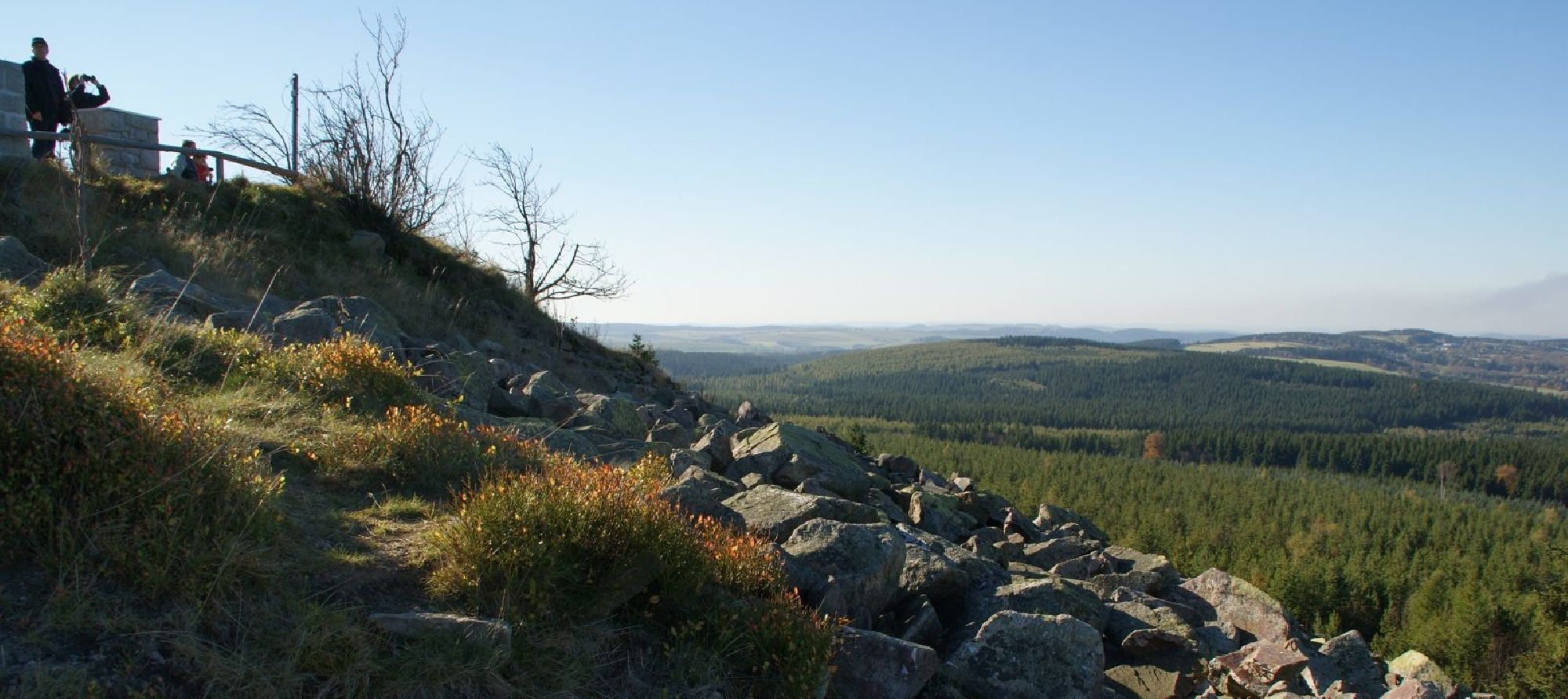 Kahleberg und Sicht aufs Tal
