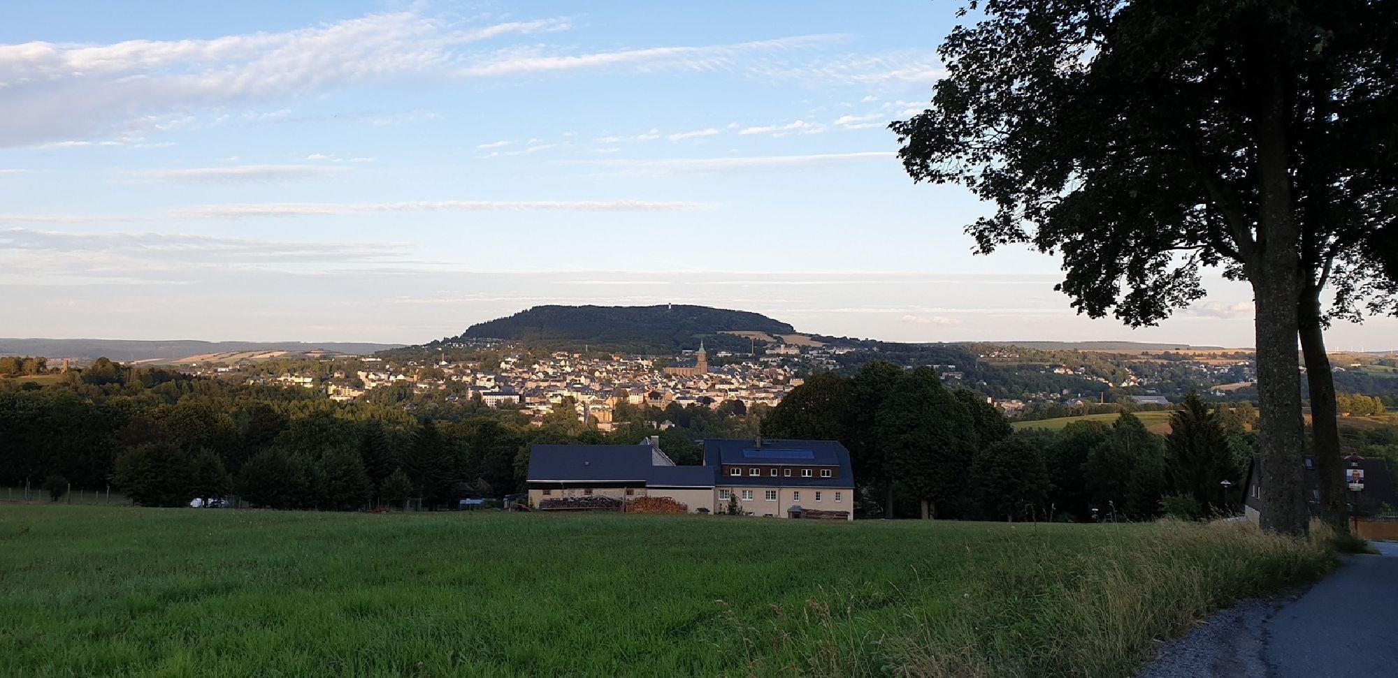 Blick zum Pöhlberg