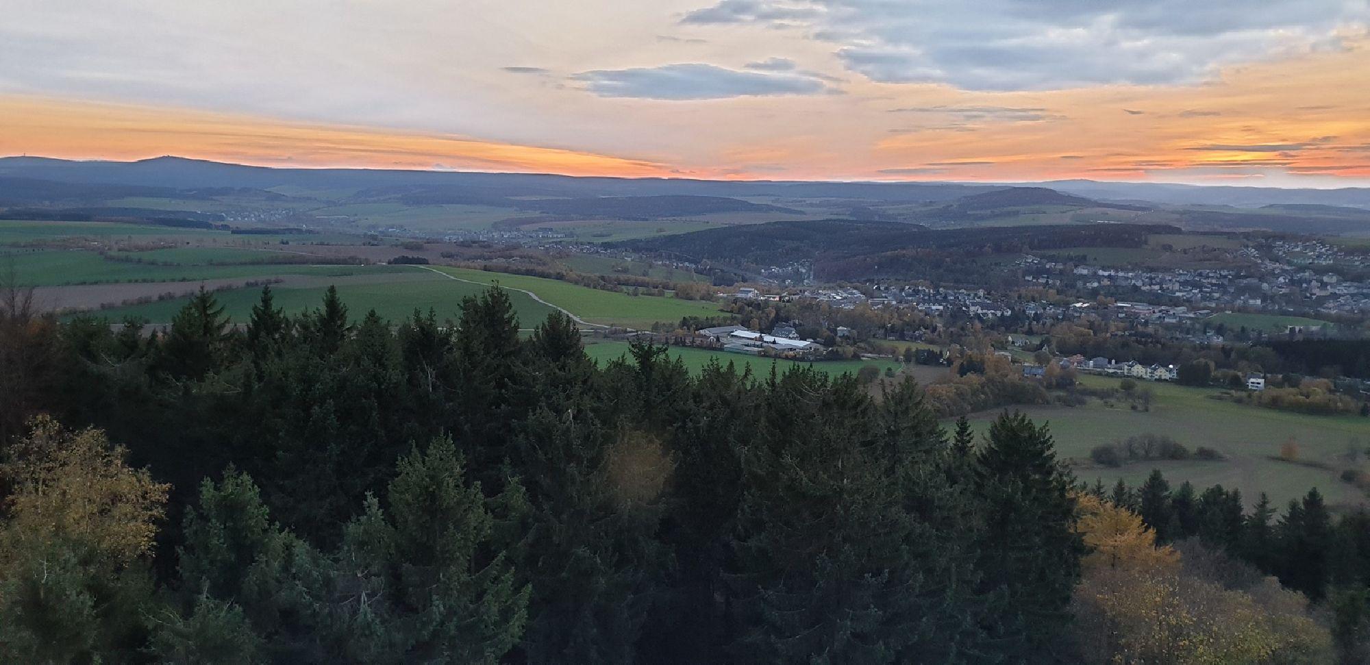 Blick vom Aussichtsturm Pöhlberg