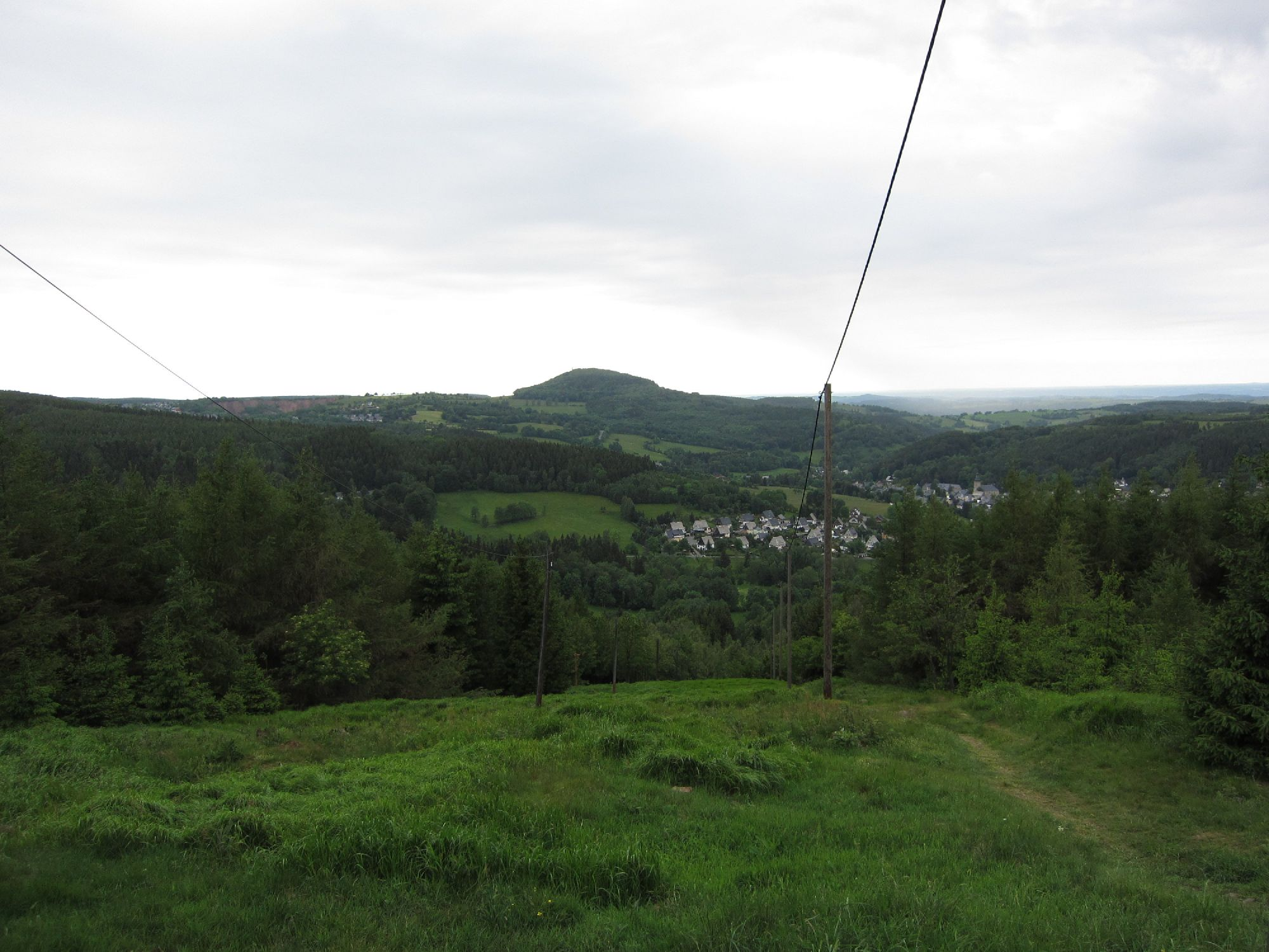 Ausblick zur Drei-Berge-Wanderung